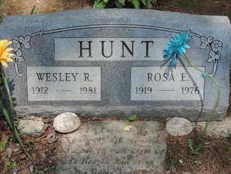 HUNT, WESLEY R. - Pike County, Ohio | WESLEY R. HUNT - Ohio Gravestone Photos