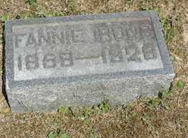 IRONS, FANNIE - Pike County, Ohio | FANNIE IRONS - Ohio Gravestone Photos