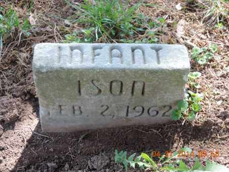 ISON, INFANT - Pike County, Ohio | INFANT ISON - Ohio Gravestone Photos