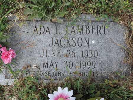 JACKSON, ADA L. - Pike County, Ohio | ADA L. JACKSON - Ohio Gravestone Photos