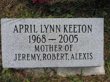 KEETON, APRIL LYNN - Pike County, Ohio | APRIL LYNN KEETON - Ohio Gravestone Photos