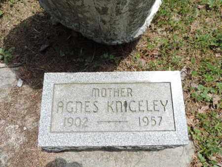 KNICELEY, AGNES - Pike County, Ohio | AGNES KNICELEY - Ohio Gravestone Photos