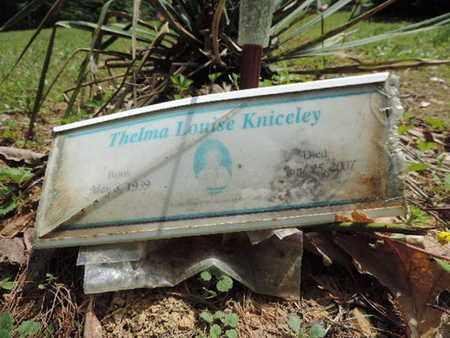 KNICELEY, THELMA LOUISE - Pike County, Ohio   THELMA LOUISE KNICELEY - Ohio Gravestone Photos