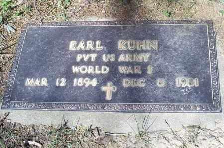 KUHN, EARL - Pike County, Ohio | EARL KUHN - Ohio Gravestone Photos