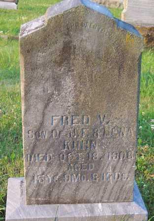 KUHN, FREDRICK VALENTINE - Pike County, Ohio   FREDRICK VALENTINE KUHN - Ohio Gravestone Photos