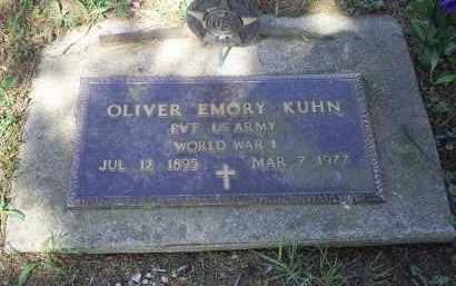KUHN, OLIVER EMORY - Pike County, Ohio | OLIVER EMORY KUHN - Ohio Gravestone Photos