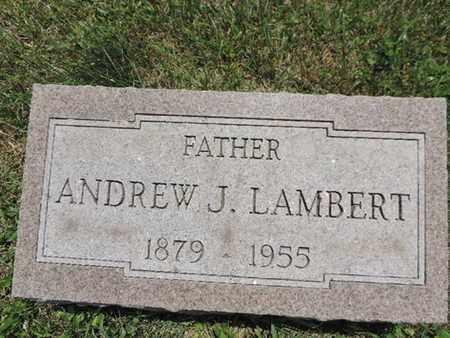 LAMBERT, ANDREW J. - Pike County, Ohio | ANDREW J. LAMBERT - Ohio Gravestone Photos