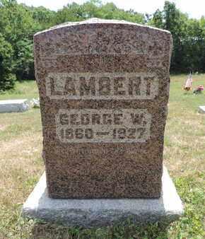 LAMBERT, GEORGE W. - Pike County, Ohio   GEORGE W. LAMBERT - Ohio Gravestone Photos