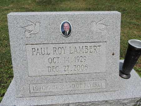 LAMBERT, PAUL ROY - Pike County, Ohio   PAUL ROY LAMBERT - Ohio Gravestone Photos