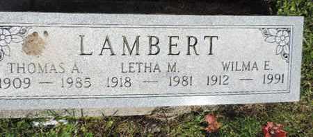 LAMBERT, LETHA M. - Pike County, Ohio | LETHA M. LAMBERT - Ohio Gravestone Photos