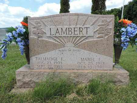 LAMBERT, TALMADGE E - Pike County, Ohio   TALMADGE E LAMBERT - Ohio Gravestone Photos