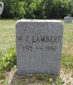 LAMBERT, W. T. - Pike County, Ohio | W. T. LAMBERT - Ohio Gravestone Photos