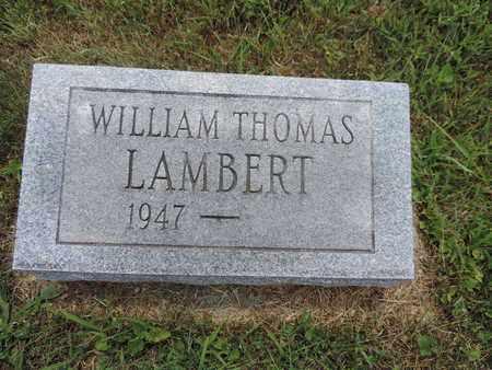 LAMBERT, WILLIAM THOMAS - Pike County, Ohio | WILLIAM THOMAS LAMBERT - Ohio Gravestone Photos