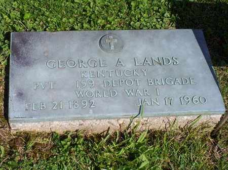 LANDS, GEORGE A. - Pike County, Ohio | GEORGE A. LANDS - Ohio Gravestone Photos
