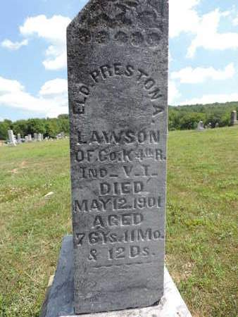 LAWSON, ELD. PRESTON A. - Pike County, Ohio | ELD. PRESTON A. LAWSON - Ohio Gravestone Photos