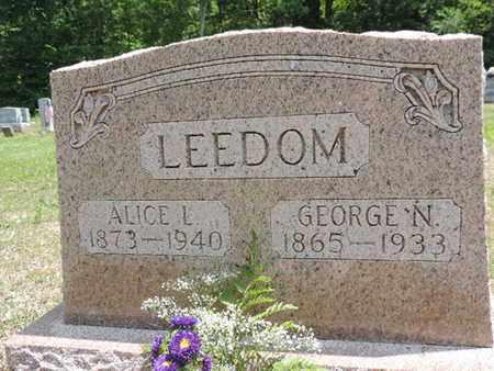 LEEDOM, GEOGE N. - Pike County, Ohio | GEOGE N. LEEDOM - Ohio Gravestone Photos