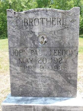 LEEDOM, JOHN PAUL - Pike County, Ohio   JOHN PAUL LEEDOM - Ohio Gravestone Photos
