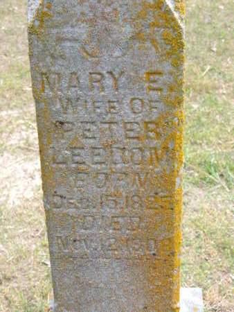 LEEDOM, MARY E. - Pike County, Ohio | MARY E. LEEDOM - Ohio Gravestone Photos