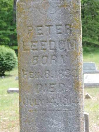 LEEDOM, PETER - Pike County, Ohio | PETER LEEDOM - Ohio Gravestone Photos
