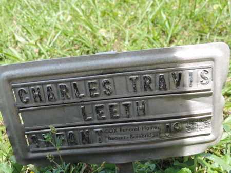 LEETH, CHARLES TRAVIS - Pike County, Ohio   CHARLES TRAVIS LEETH - Ohio Gravestone Photos