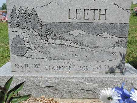 LEETH, CLARENCE - Pike County, Ohio | CLARENCE LEETH - Ohio Gravestone Photos