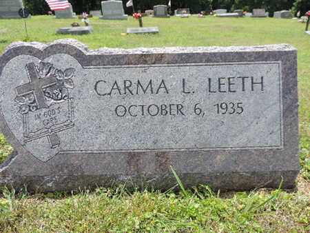 LEETH, CARMA L. - Pike County, Ohio | CARMA L. LEETH - Ohio Gravestone Photos