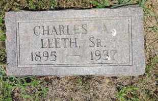 LEETH, CHARLES A. - Pike County, Ohio | CHARLES A. LEETH - Ohio Gravestone Photos