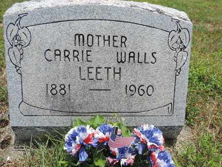 LEETH, CARRIE - Pike County, Ohio   CARRIE LEETH - Ohio Gravestone Photos