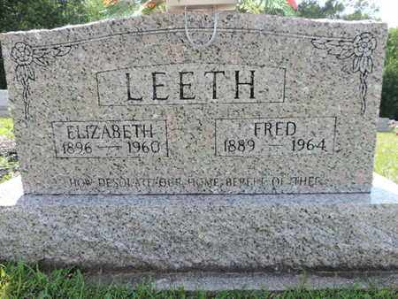 LEETH, ELIZABETH - Pike County, Ohio | ELIZABETH LEETH - Ohio Gravestone Photos