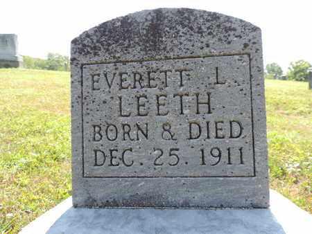 LEETH, EVERET L. - Pike County, Ohio | EVERET L. LEETH - Ohio Gravestone Photos
