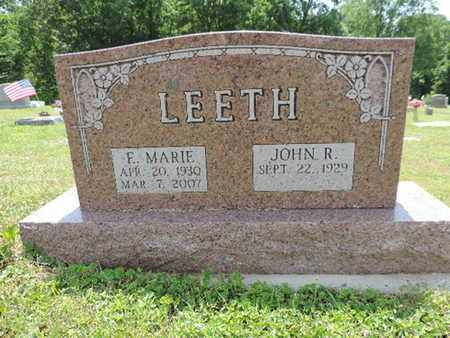 LEETH, JOHN R. - Pike County, Ohio | JOHN R. LEETH - Ohio Gravestone Photos