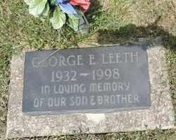 LEETH, GEORGE E. - Pike County, Ohio | GEORGE E. LEETH - Ohio Gravestone Photos