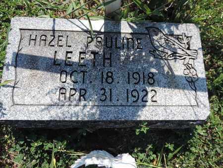 LEETH, HAZEL PAULINE - Pike County, Ohio | HAZEL PAULINE LEETH - Ohio Gravestone Photos