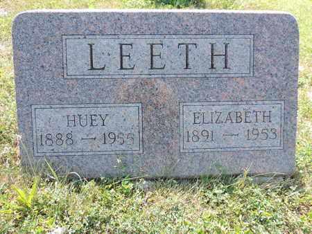 LEETH, HUEY - Pike County, Ohio   HUEY LEETH - Ohio Gravestone Photos