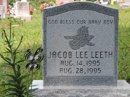 LEETH, JACOB LEE - Pike County, Ohio | JACOB LEE LEETH - Ohio Gravestone Photos