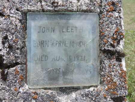 LEETH, JOHN - Pike County, Ohio | JOHN LEETH - Ohio Gravestone Photos