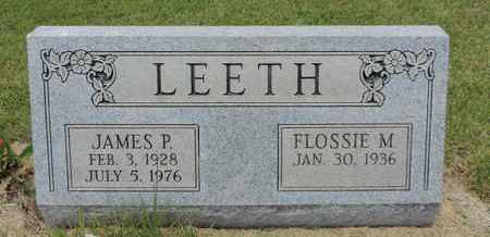 LEETH, JAMES P - Pike County, Ohio | JAMES P LEETH - Ohio Gravestone Photos