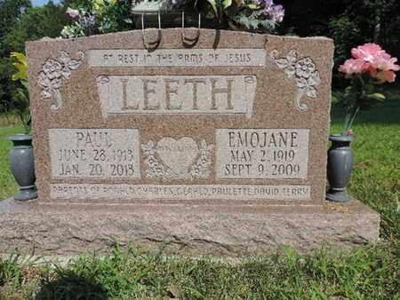 LEETH, EMOJANE - Pike County, Ohio | EMOJANE LEETH - Ohio Gravestone Photos