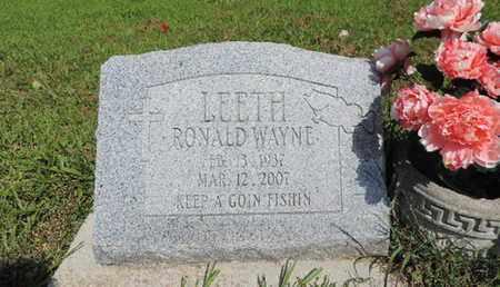 LEETH, RONALD WAYNE - Pike County, Ohio | RONALD WAYNE LEETH - Ohio Gravestone Photos