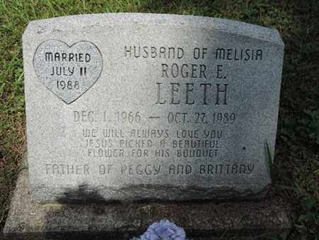 LEETH, ROGER E. - Pike County, Ohio | ROGER E. LEETH - Ohio Gravestone Photos