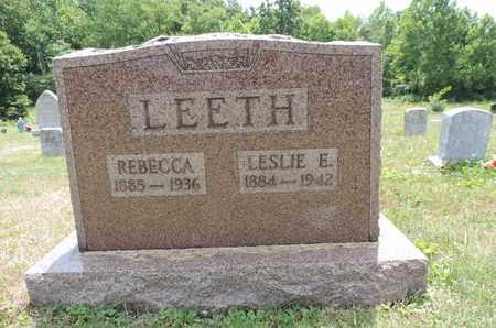 LEETH, REBECCA - Pike County, Ohio   REBECCA LEETH - Ohio Gravestone Photos