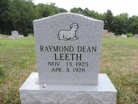 LEETH, RAYMOND DEAN - Pike County, Ohio | RAYMOND DEAN LEETH - Ohio Gravestone Photos