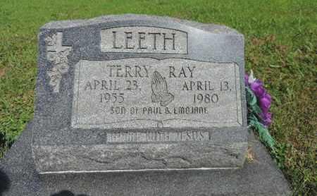 LEETH, TERRY RAY - Pike County, Ohio | TERRY RAY LEETH - Ohio Gravestone Photos