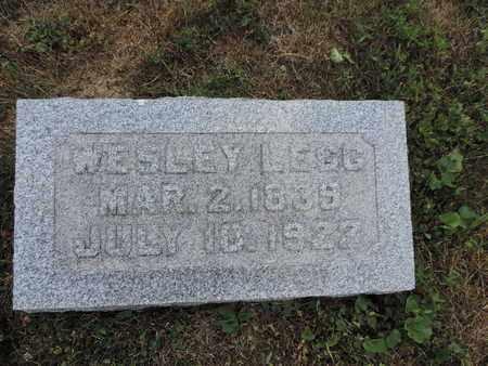LEGG, WESLEY - Pike County, Ohio | WESLEY LEGG - Ohio Gravestone Photos