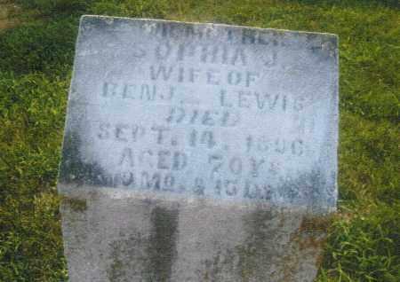 SMITH LEWIS, SOPHIA JANE - Pike County, Ohio | SOPHIA JANE SMITH LEWIS - Ohio Gravestone Photos