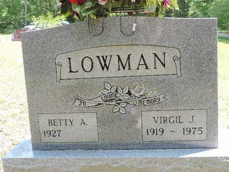 LOWMAN, VIRGIL J - Pike County, Ohio | VIRGIL J LOWMAN - Ohio Gravestone Photos