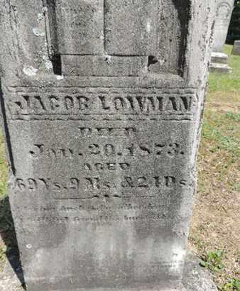 LOWMAN, JACOB - Pike County, Ohio   JACOB LOWMAN - Ohio Gravestone Photos