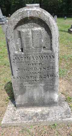 LOWMAN, JACOB - Pike County, Ohio | JACOB LOWMAN - Ohio Gravestone Photos
