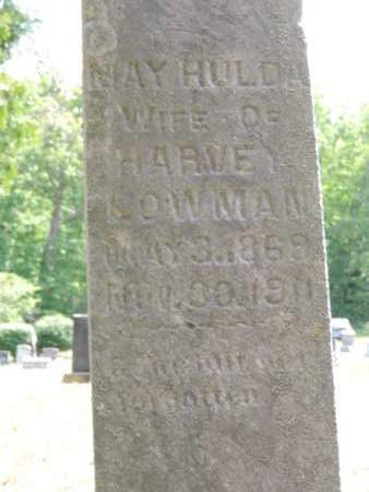 LOWMAN, MAY HULDA - Pike County, Ohio | MAY HULDA LOWMAN - Ohio Gravestone Photos