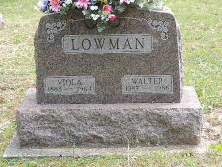 LOWMAN, WALTER - Pike County, Ohio | WALTER LOWMAN - Ohio Gravestone Photos